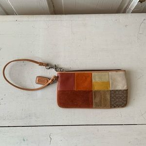 Coach patchwork leather wristlet